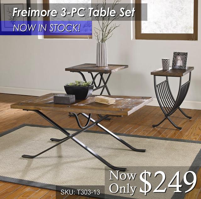 Freimore 3PC Table Set