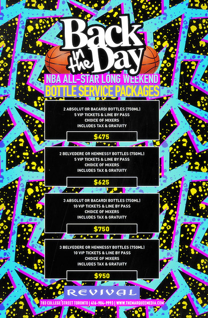 2/13 - Sat - Back in the DAY All Star Edition TORONTO