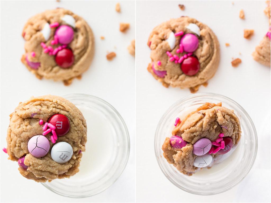 Valentine Peanut Butter M&M Cookies