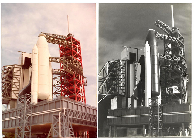 Space Shuttle Model Launch Pads