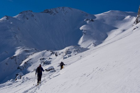 Tragická tyrolská lavina - pohled shora...