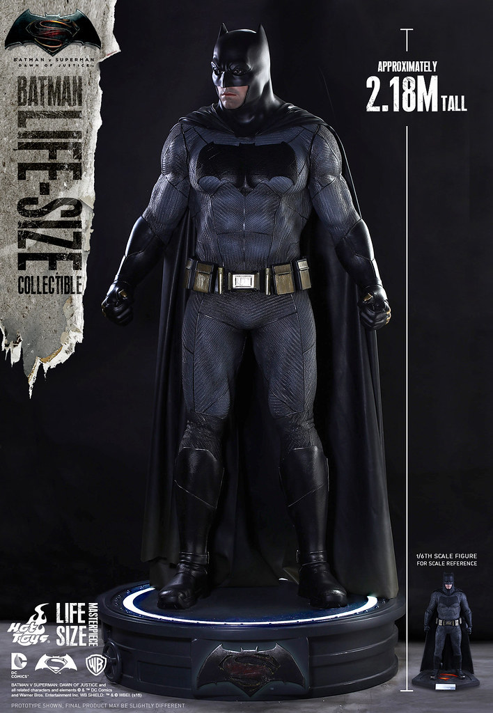 Hot Toys – LMS002 – 蝙蝠俠對超人:正義曙光【1:1 蝙蝠俠】Batman 真人比例作品