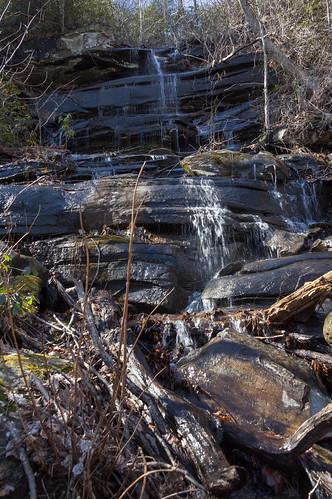Pinnacle Mountain Trailside waterfall - 1