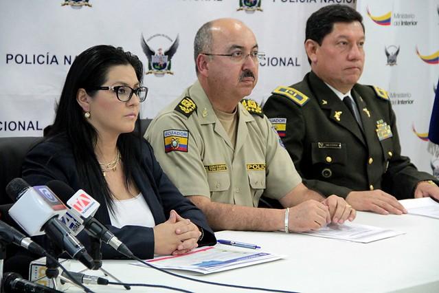 En rueda de prensa, Carina Argüello subsecretaria de Seguridad Interna manifestó que en el operativo se decomisó 10 millones de dólares falsos