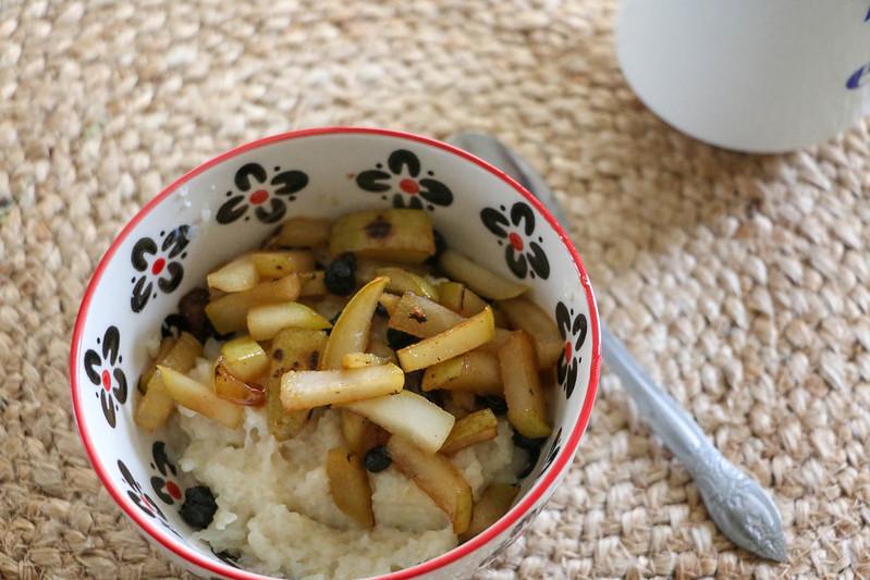 02.29. Almond Cream Buckweat with Pears