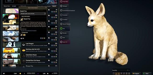 Schwarze Wüste Online - Haustiere