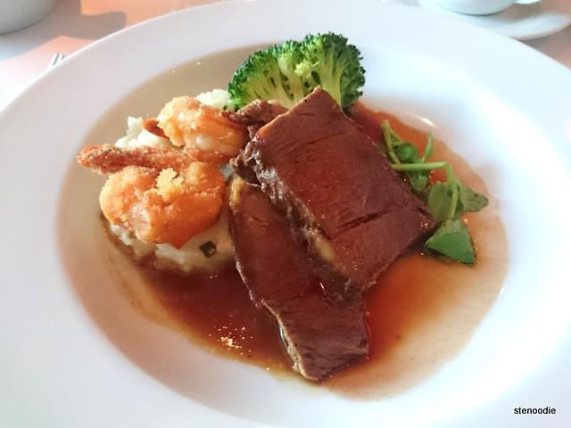 Breaded Cajun Shrimp & Braised Beef Short Ribs