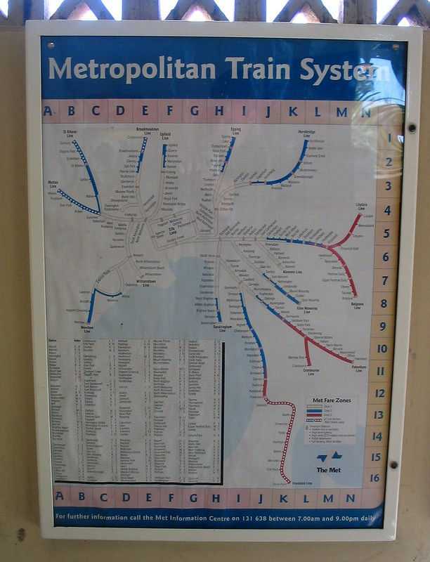 Met rail map, outdated but still on display, 2006