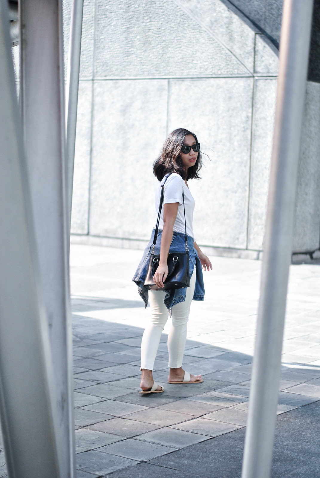 all white outfit, sunnies and style, style