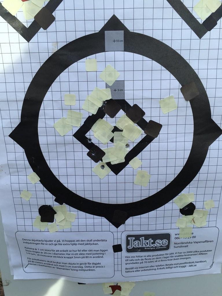 Skytte på 50 meter, stående mina skott