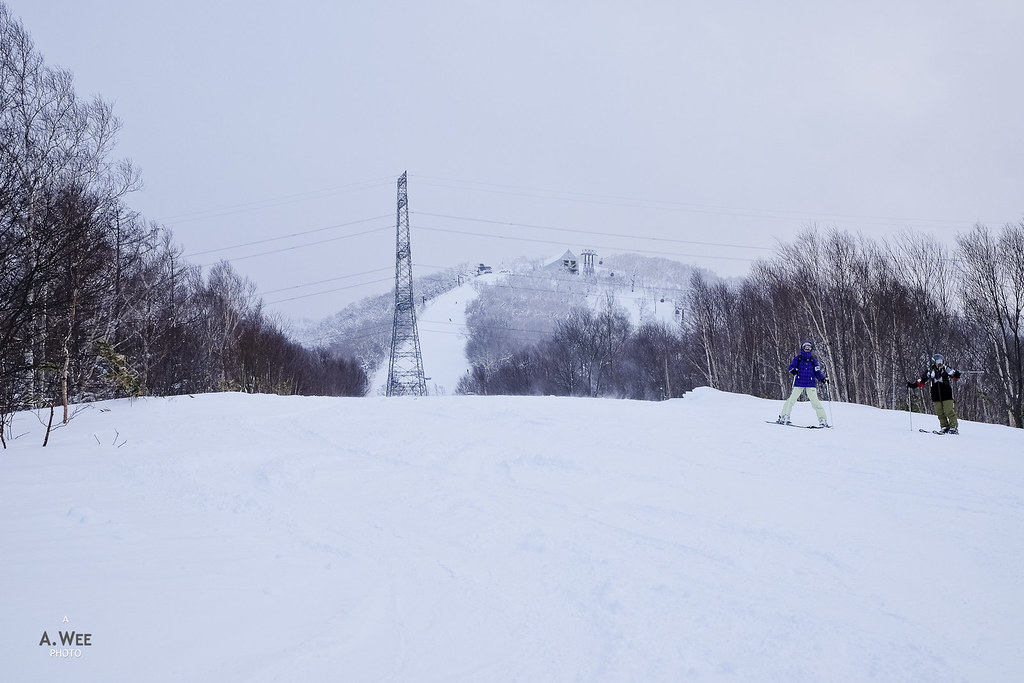 Intermediate ski trail
