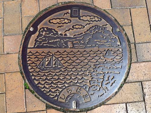 Shirahama Wakayama, manhole cover (和歌山県白浜町のマンホール)