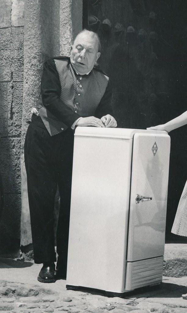 José Isbert en Toledo durante el rodaje de Un Americano en Toledo (1960)