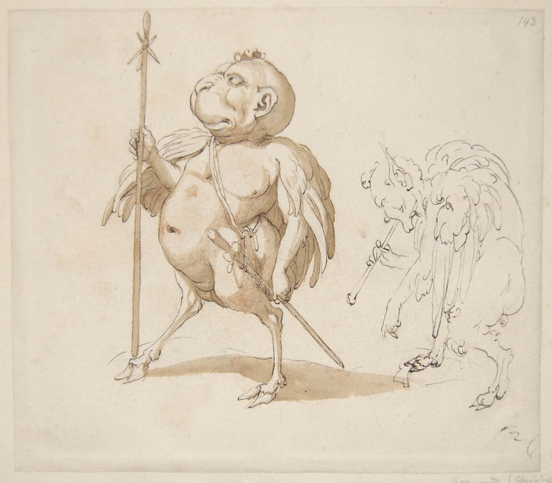 Arent van Bolten - Monster 143, from collection of 425 drawings, 1588-1633