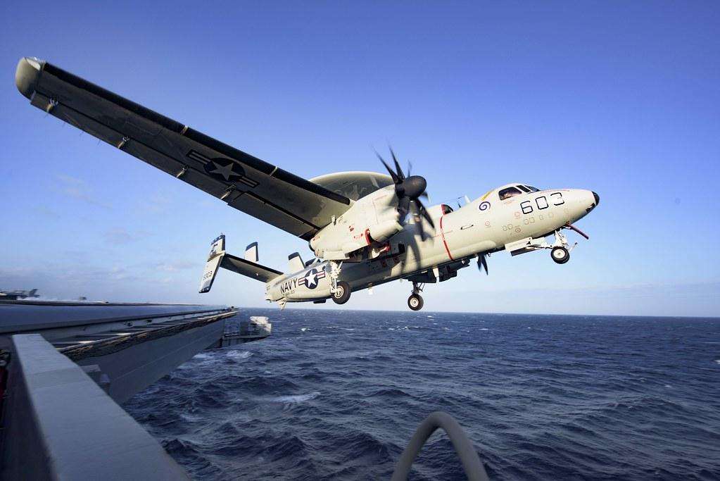USS Dwight D. Eisenhower conducts flight operations.
