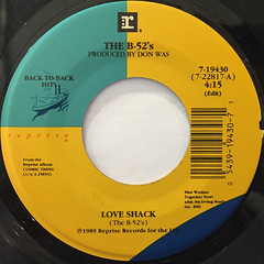 THE B-52'S:LOVE SHACK(LABEL SIDE-A)