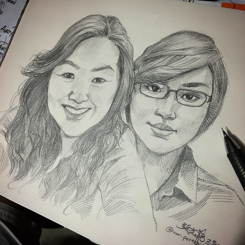 Portraits in pencil