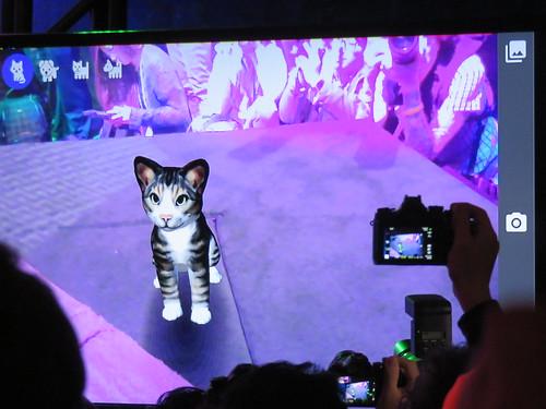ตัวอย่างแอป Virtual Pet ที่สามารถโต้ตอบกับสภาพแวดล้อมรอบๆ ตัวได้ด้วย