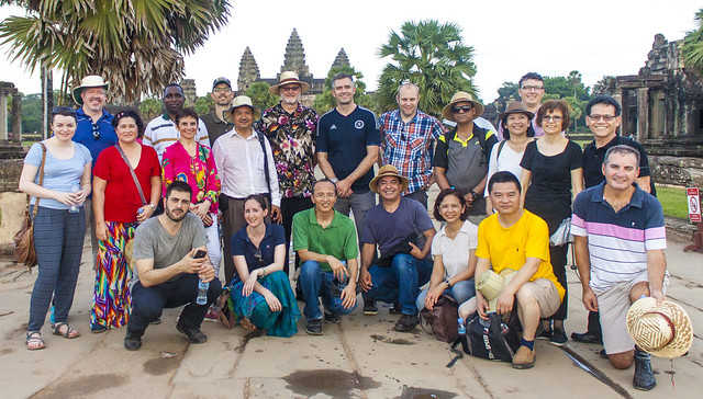 Global Advocacy Exchange participants at Angkor Wat