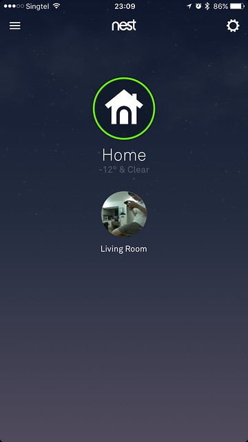 Nest iOS App - Home