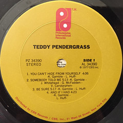 TEDDY PENDERGRASS:TEDDY PENDERGRASS(LABEL SIDE-A)