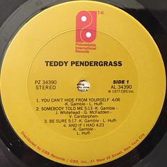TEDDY PENDERGRASS:TEDDY PENDERGRASS(LABEL SIDE-A)