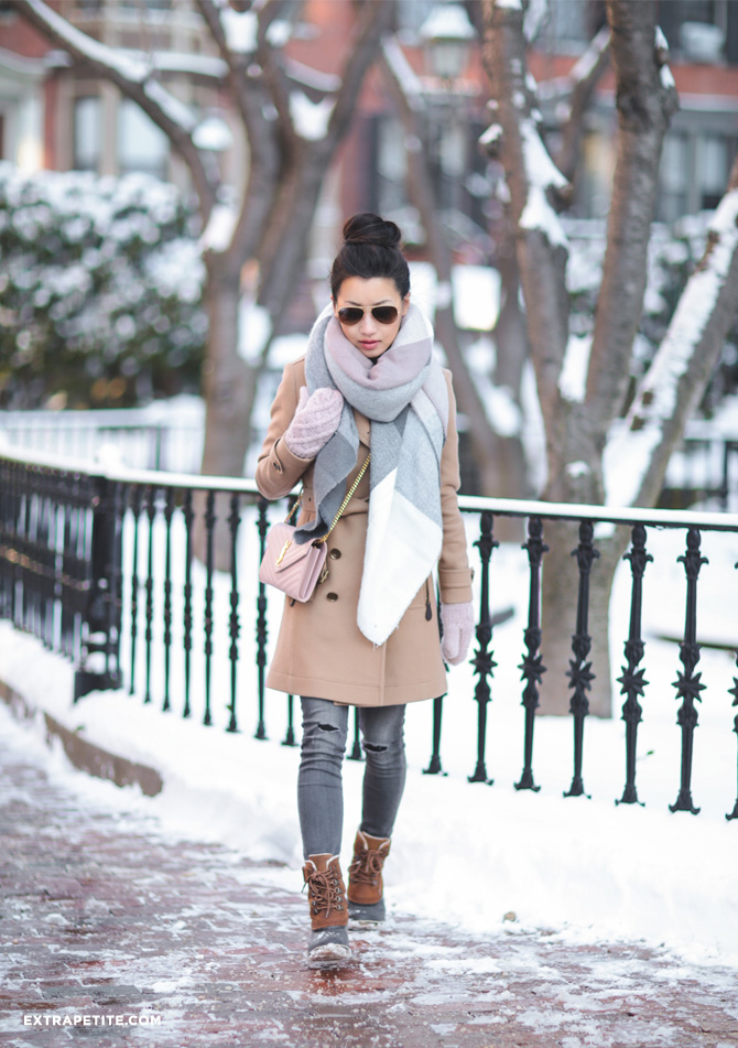 boston new england snow winter coat outfit