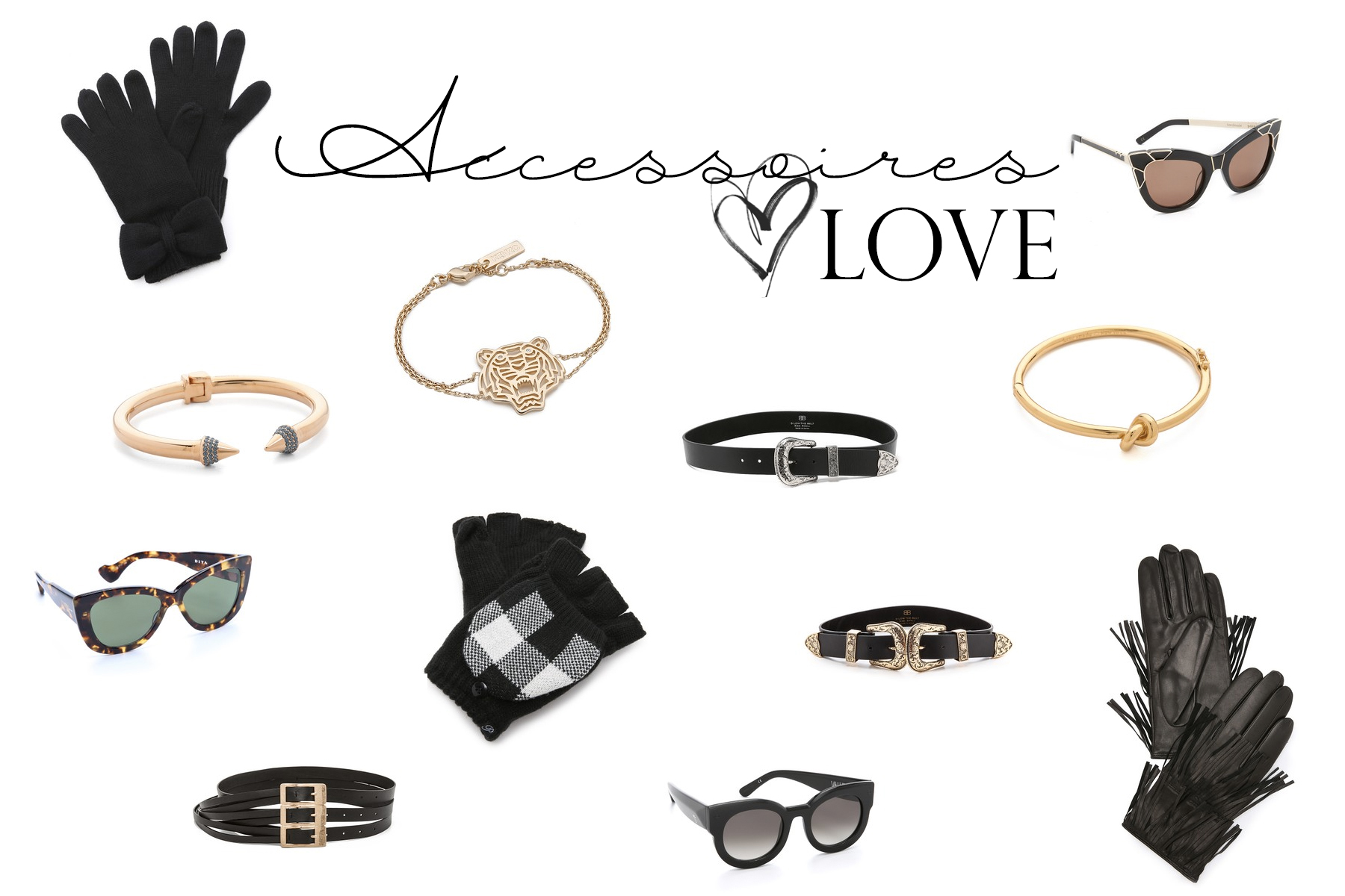 accessoires 2016 new jewelry sunglasses gloves belts shopbop shopping inspo fashion fashionblogger germany styling accessory leather gold metal modeblog cats & dogs blog ricarda schernus styleblogger