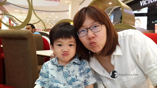 Lucas With His Multi Expression Together With Mummy