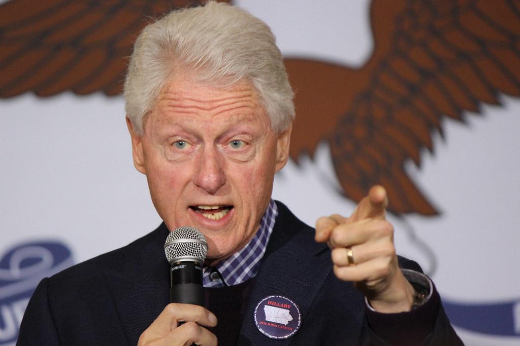 President Bill Clinton in Des Moines, Iowa