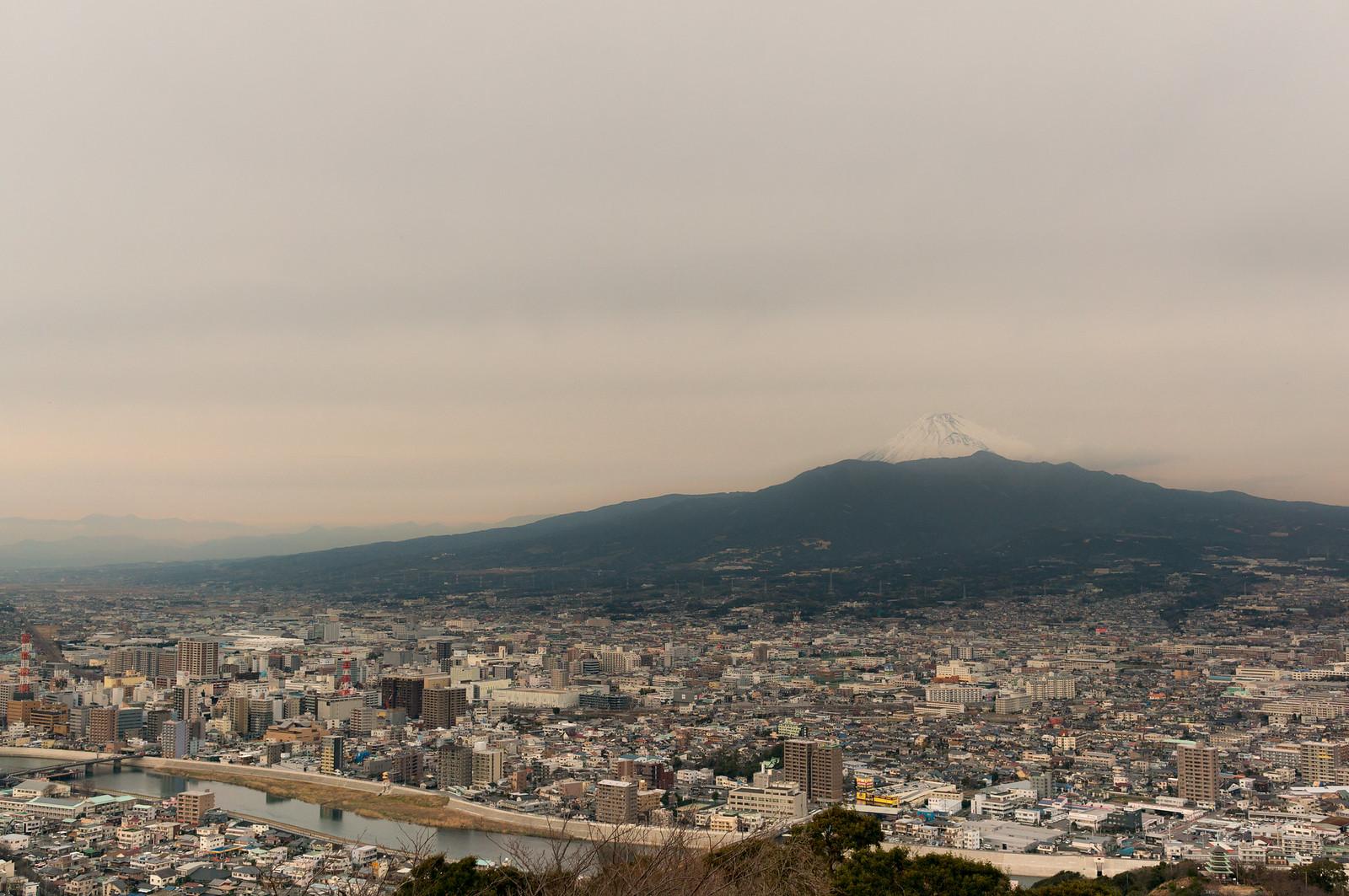 香貫山から見た富士山