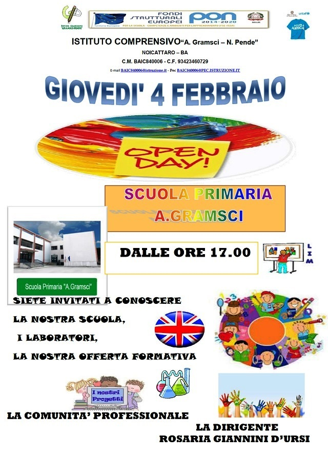 Noicattaro. Open Day Gramsci intero