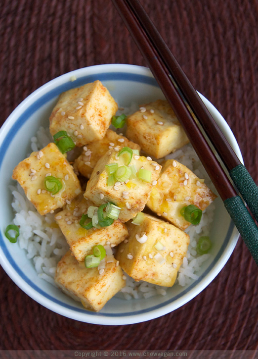 Roasted Tofu in Lemon Sauce