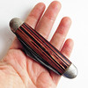 Vintage Hammer Brand 3-Blade Folding Pocket Knife 1938-41 Striped Celluloid Handle