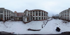 Abandoned school building in Lublino
