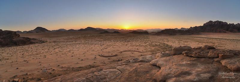 Wadi Rum Sunset Panorama