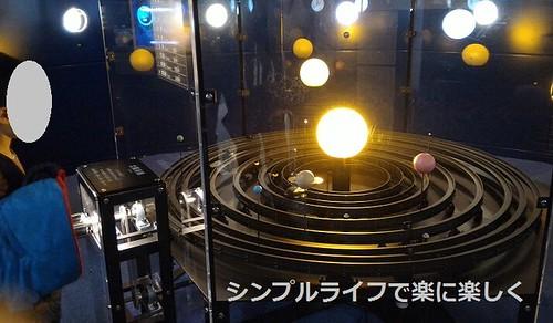 明石天文科学館、太陽系儀