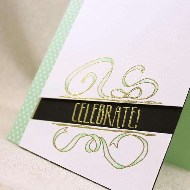 Mint & Gold Celebrate Close Up