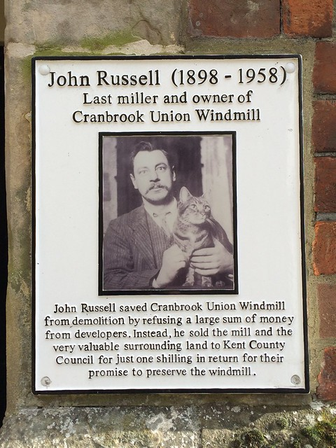 Photo of John Russell white plaque
