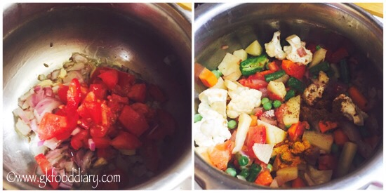 Vegetables Dal Khichdi Recipe for Babies, Toddlers and Kids - step 4