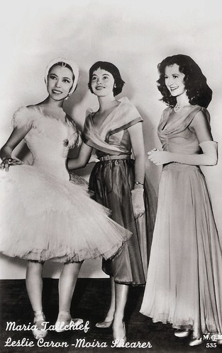 Leslie Caron, Moira Shearer and Maria Tallchief