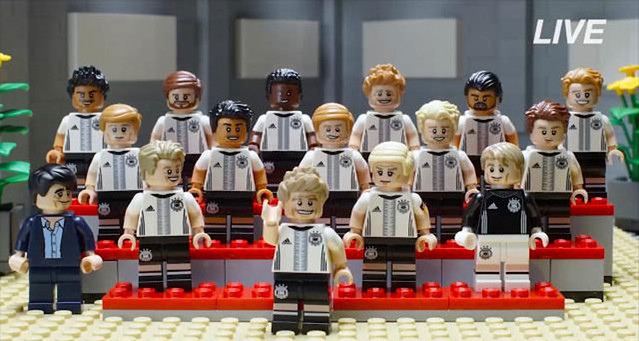 LEGO 71014 Die Mannschaft Minifigs Equipe d'Allemagne de football