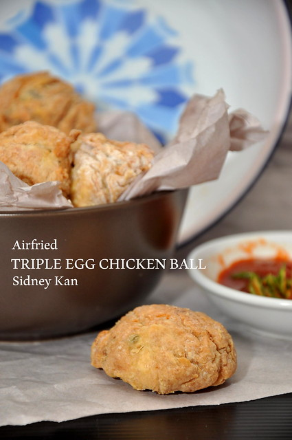 Triple Egg Chicken Ball with Philips Airfryer