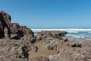 Legzira Beach 440 Metre uzunluğunda plaj görüntü. morocco maroko