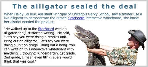 The alligator sealed the deal