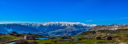 blue sky lebanon mountain lake mountains water clouds landscape outdoor pano panoramic hdr jbeil qartaba laklouk kartaba