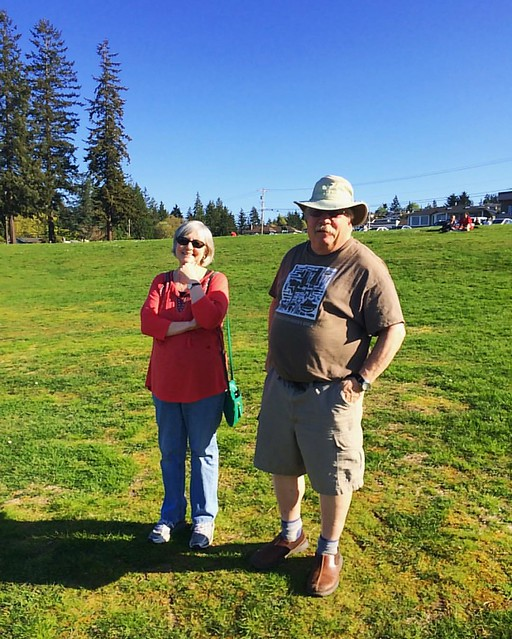 My in-laws at Harborview Park yesterday.