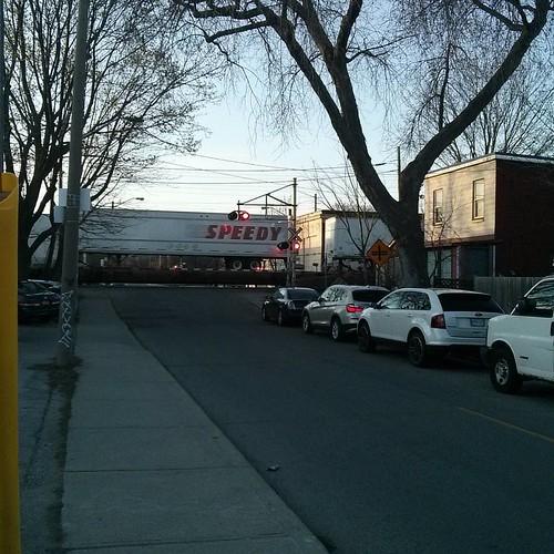Rail crossing, Bartlett #toronto #dovercourtvillage #bartlettavenue #dupontstreet #rail