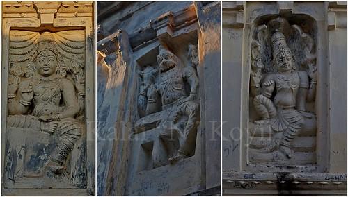 Devakoshtha Enshrine @ Adikesva Perumal Temple-Kuram-Kancheepuram Distrcit .