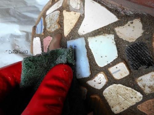 vaso terracotta con mosaico ricicloso 12